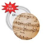 Music Notes Background 2.25  Buttons (10 pack)  Front