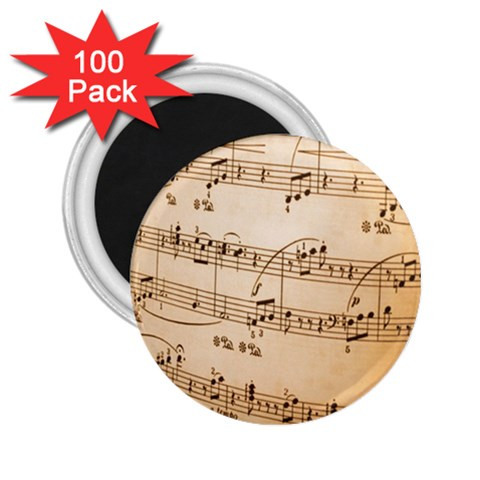 Music Notes Background 2.25  Magnets (100 pack)