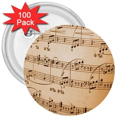 Music Notes Background 3  Buttons (100 pack)