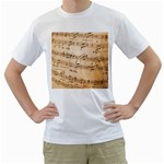 Music Notes Background Men s T-Shirt (White) (Two Sided) Front