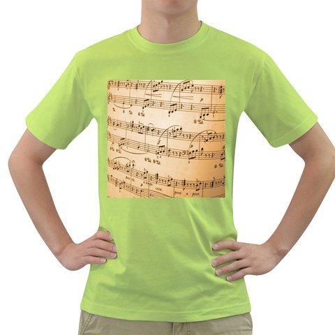 Music Notes Background Green T-Shirt
