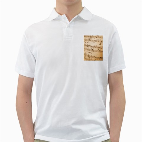 Music Notes Background Golf Shirts