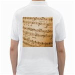 Music Notes Background Golf Shirts Back