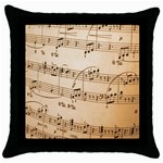 Music Notes Background Throw Pillow Case (Black) Front