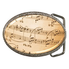 Music Notes Background Belt Buckles
