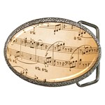Music Notes Background Belt Buckles Front