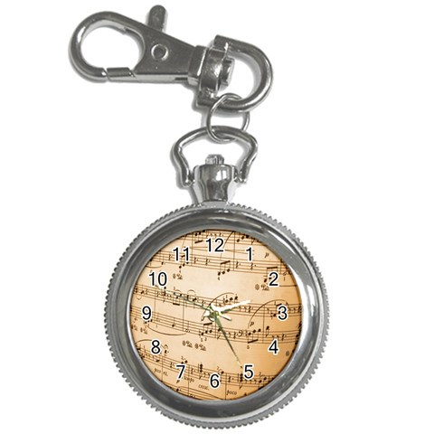 Music Notes Background Key Chain Watches