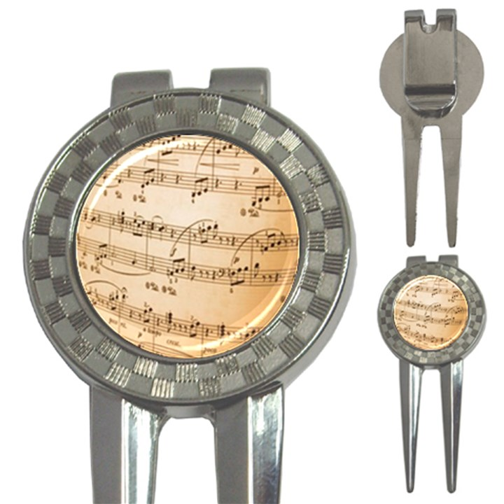 Music Notes Background 3-in-1 Golf Divots