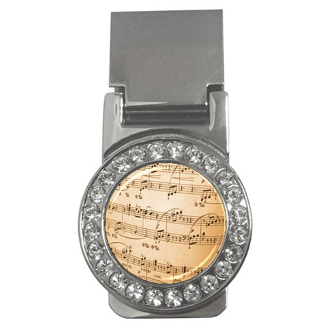 Music Notes Background Money Clips (CZ)
