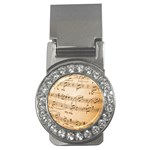 Music Notes Background Money Clips (CZ)  Front