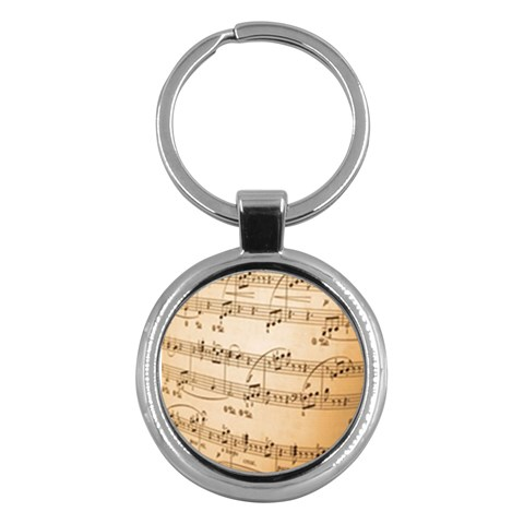Music Notes Background Key Chains (Round)