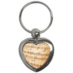 Music Notes Background Key Chains (Heart)  Front