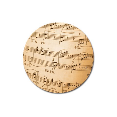 Music Notes Background Magnet 3  (Round)