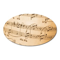 Music Notes Background Oval Magnet
