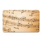 Music Notes Background Magnet (Rectangular) Front