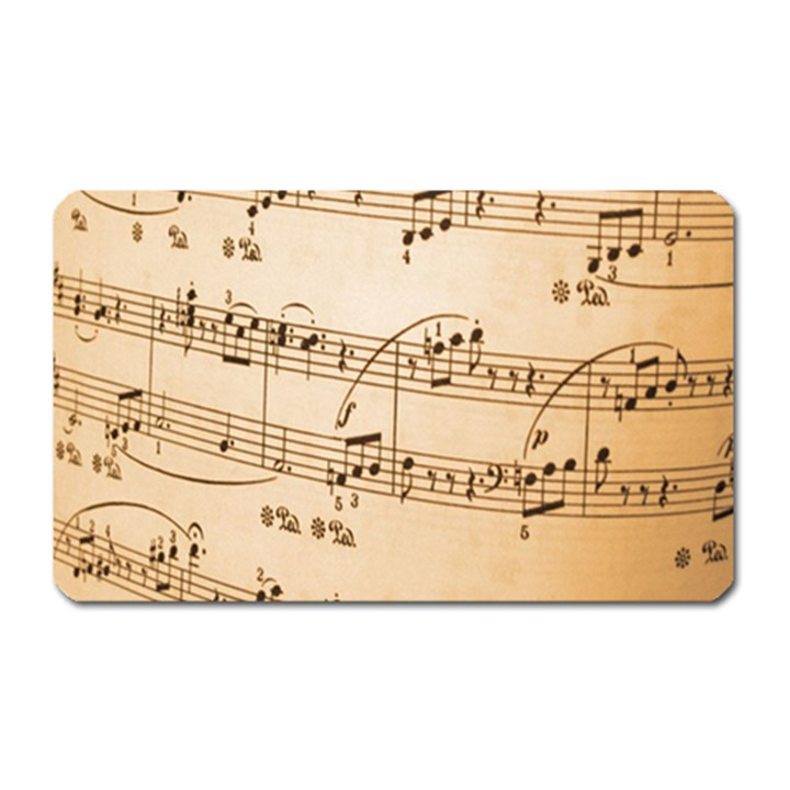Music Notes Background Magnet (Rectangular)