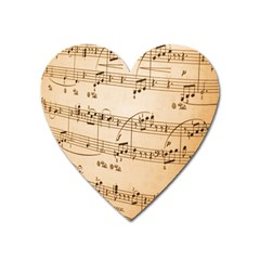 Music Notes Background Heart Magnet