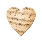 Music Notes Background Heart Magnet Front