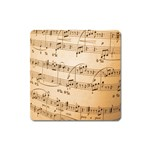Music Notes Background Square Magnet Front