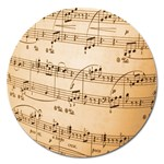 Music Notes Background Magnet 5  (Round) Front