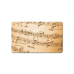 Music Notes Background Magnet (Name Card)