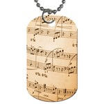 Music Notes Background Dog Tag (One Side) Front