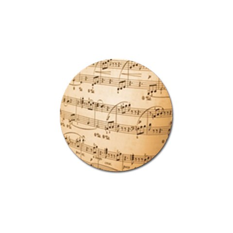 Music Notes Background Golf Ball Marker
