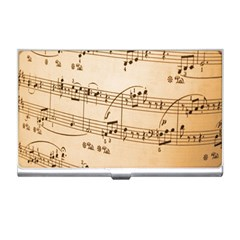 Music Notes Background Business Card Holders