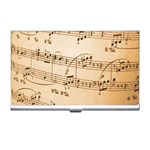 Music Notes Background Business Card Holders Front