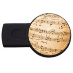 Music Notes Background USB Flash Drive Round (1 GB)  Front