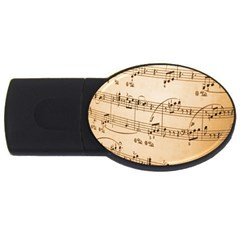 Music Notes Background USB Flash Drive Oval (2 GB)