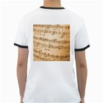 Music Notes Background Ringer T-Shirts Back