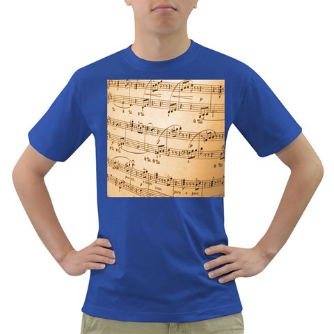 Music Notes Background Dark T-Shirt