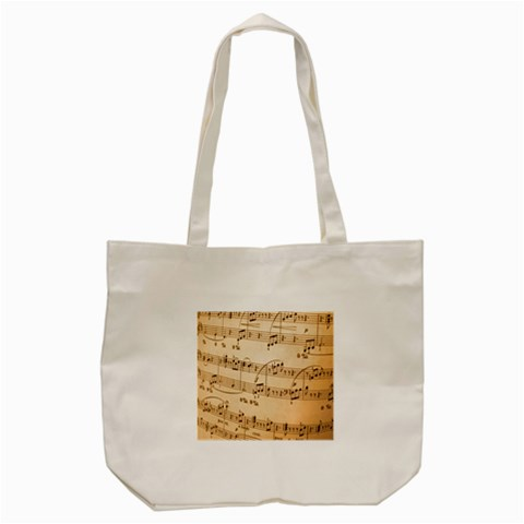 Music Notes Background Tote Bag (Cream)