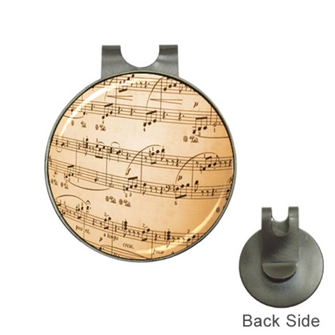 Music Notes Background Hat Clips with Golf Markers