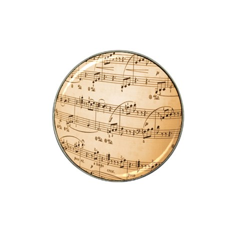Music Notes Background Hat Clip Ball Marker (4 pack)