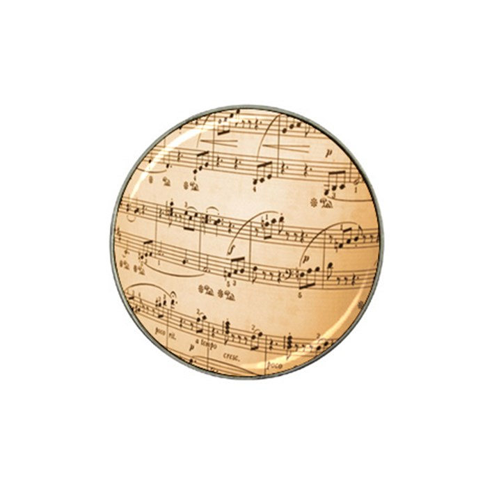 Music Notes Background Hat Clip Ball Marker (10 pack)