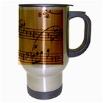 Music Notes Background Travel Mug (Silver Gray) Right