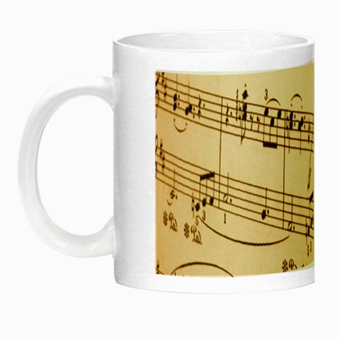 Music Notes Background Night Luminous Mugs