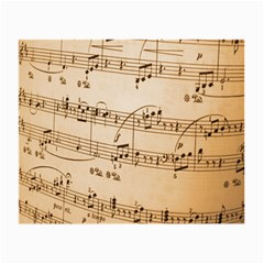Music Notes Background Small Glasses Cloth