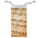 Music Notes Background Jewelry Bags Front