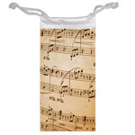 Music Notes Background Jewelry Bags Back