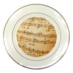 Music Notes Background Porcelain Plates Front