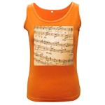 Music Notes Background Women s Dark Tank Top Front