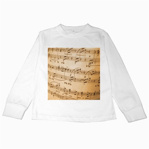 Music Notes Background Kids Long Sleeve T-Shirts