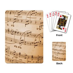 Music Notes Background Playing Card