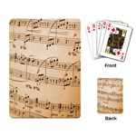 Music Notes Background Playing Card Back