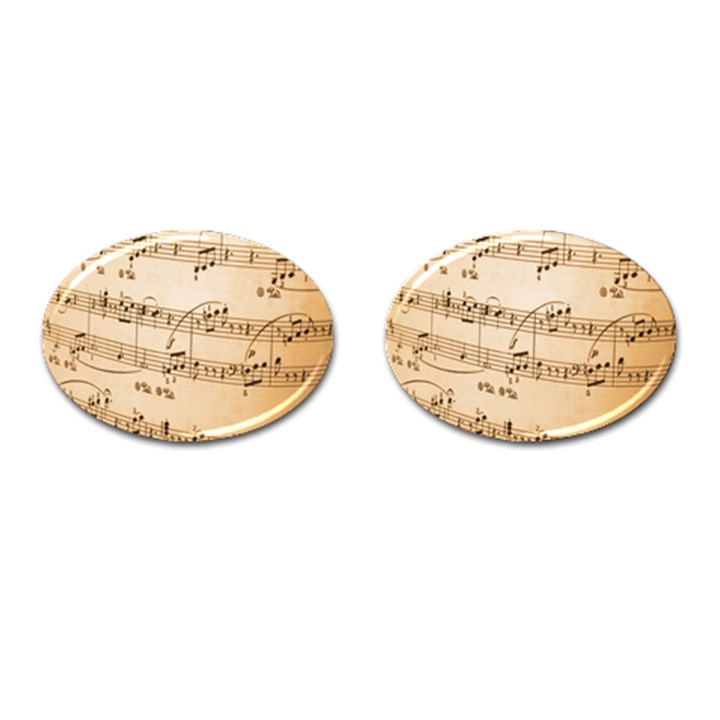 Music Notes Background Cufflinks (Oval)