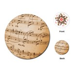Music Notes Background Playing Cards (Round)  Front