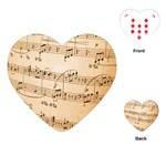 Music Notes Background Playing Cards (Heart)  Front